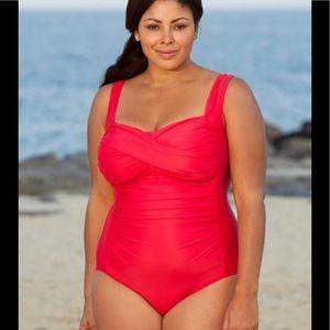 854270ebc78 Delta Burke. Delta Burke slimming one piece bathing suit 18W